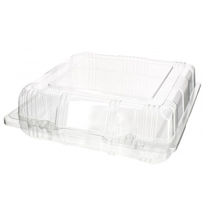 Boîte à charnière Pour Pâtisserie PET 18x18x6cm (20 Utés)