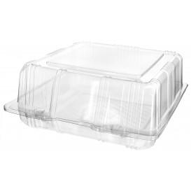 Boîte à charnière Pour Pâtisserie PET 18x18x8cm (20 Utés)