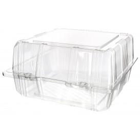 Boîte à charnière Pour Pâtisserie PET 18x18x10cm (20 Utés)