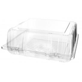 Plastic scharnierende bakkerij Container PET 20x20x8cm (20 stuks)