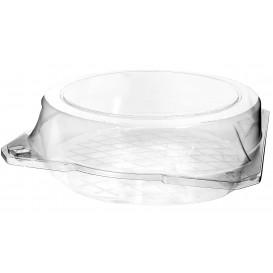 Plastic scharnierende bakkerij Container PET Ø23x8cm (115 stuks)