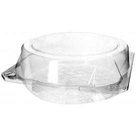 Plastic scharnierende bakkerij Container PET Ø20x8cm (115 stuks)