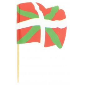"""Pique en Bois Drapeau """"Euskadi"""" 65mm (14.400 Unités)"""