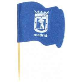 Vlag van Madrid vleespennen 6,5cm (14400 stuks)