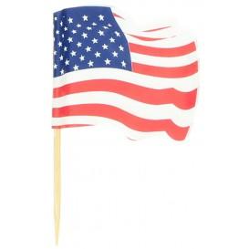 USA Vlag vleespennen 6,5cm (14400 stuks)