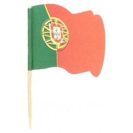 """Pique en Bois Drapeau """"Portugal"""" 65mm (14.400 Unités)"""