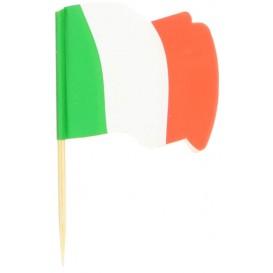 Vlag van Italië vleespennen 6,5cm (14400 stuks)