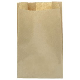 Papieren voedsel zak kraft 25+8x36cm (1000 stuks)