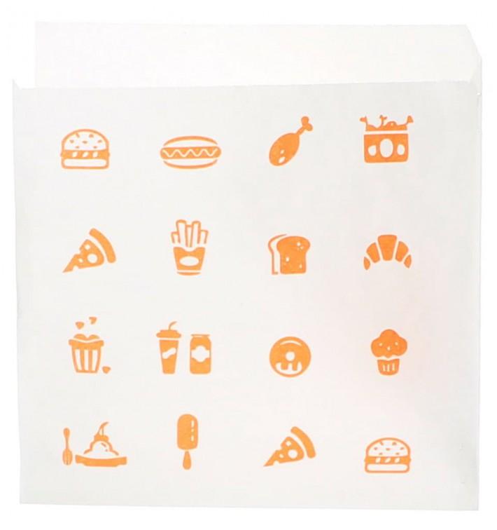 """Sachet Papier Ouverture latérale """"Saky Food"""" 15x15cm (3000 Utés)"""