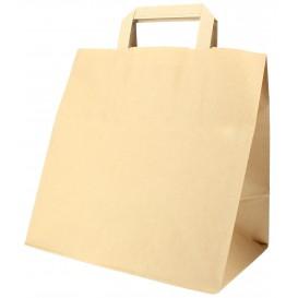Papieren zak met handgrepen kraft Plat 70g 26+18x26cm (50 eenheden)