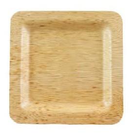 Bamboe bord Vierkant 12x12x1cm (10 stuks)