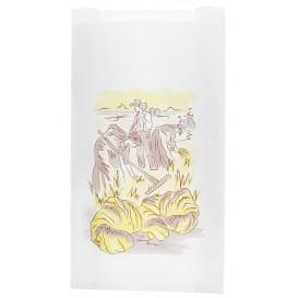 """Sac Papier Blanc """"Siega"""" 14+7x24cm (100 Unités)"""