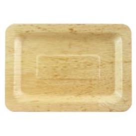 Bamboe wegwerp dienblad 20x14x1cm (10 stuks)