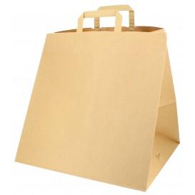 Papieren zak met handgrepen voor Pizza Boxes 80g 37+33x32cm (25 stuks)