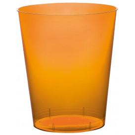 "Plastic PS beker ""Moon"" oranje transparant 350ml (20 stuks)"