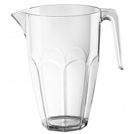 Plastic pot met Deksel transparant SAN Herbruikbaar 2250ml (1 stuk)