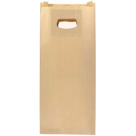 Papieren zak met handgrepen kraft uitgesneden hendels 18+6x32cm (50 stuks)