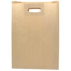 Papieren zak met handgrepen kraft uitgesneden hendels 31+8x42cm (250 stuks)