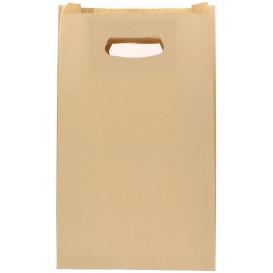 """Papieren zak met handgrepen kraft """"Hawanna"""" uitgesneden hendels 24+7x37cm (50 stuks)"""