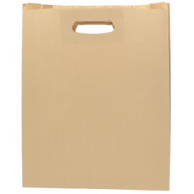 """Papieren zak met handgrepen kraft """"Hawanna"""" uitgesneden hendels 41+10x42cm (50 stuks)"""