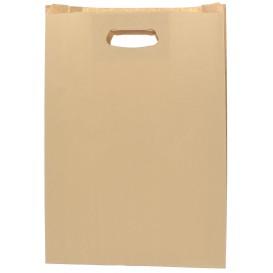 """Papieren zak met handgrepen kraft """"Hawanna"""" uitgesneden hendels 31+8x42cm (50 stuks)"""