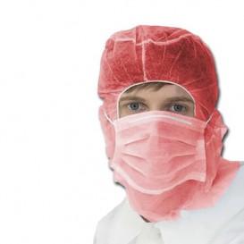 Wegwerp-chirurgiekap met 3 laags rood (100 stuks)