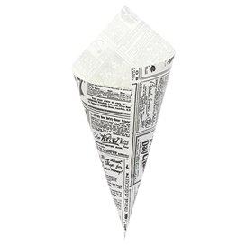 """Papieren voedsel kegel Vetvrij """"Times"""" 29,5cm 250g (2.000 stuks)"""