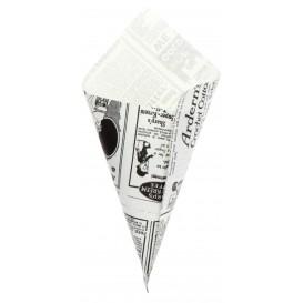 """Papieren voedsel kegel Vetvrij """"Times"""" 20cm 70g (2000 stuks)"""
