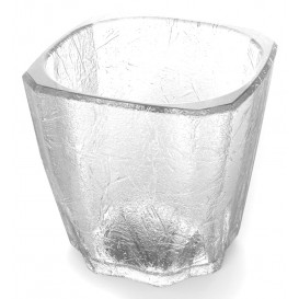 "Plastic glas SAN Herbruikbaar ""mini Drink"" ""Cube"" 200ml (8 stuks)"