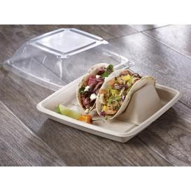 Support pour Tacos en Canne à Sucre 18x11x5cm (300 Utés)