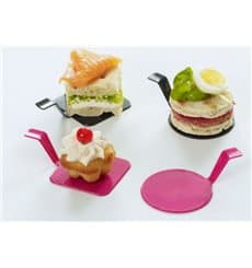"Assiette Dégustation ""Gourmand"" Framboise Ø4,5x2cm(600 Utés)"