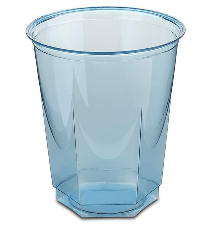 Gobelet Plastique Hexagonal Turquoise PS Cristal 250ml (250 Utés)