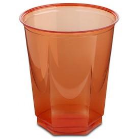 Gobelet Plastique Hexagonal Rouge PS Cristal 250ml(250 Utés)