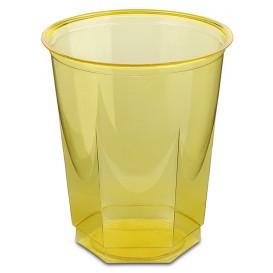 Gobelet Plastique Hexagonal Jaune PS Cristal 250ml (250 Utés)
