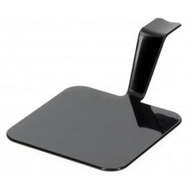 "Proeving Plastic bord PS ""Gourmen"" zwart 4x4cm (50 stuks)"