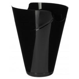 "Proeving plastic PP Container ""Click-Clack"" zwart 180ml (10 stuks) (10 stuks)"