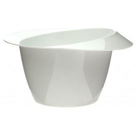 """Plastic Proeving Kom met hoed design PS """"enofk"""" wit 60ml (24 stuks)"""