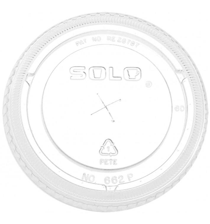 Couvercle Plat avec Croix PET Cristal Ø9,2cm (100 Unités)