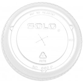 Plastic platte Deksel met kruis PET kristal Ø8,3cm (100 stuks)