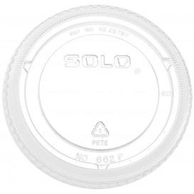 Couvercle Plat Fermé PET Cristal Ø9,8cm (100 Utés)