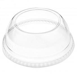 Plastic PET koepel Deksel Kristal met een Opening Ø9,2cm (100 stuks)