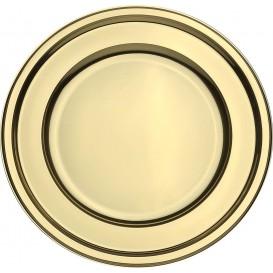 Assiette en Plastique PET Ronde Doré Ø18,5cm (180 Utés)