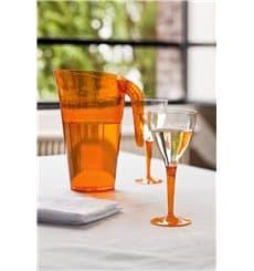 Verre à Vin Plastique Orange 130ml (6 Unités)