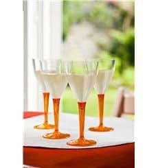 Verre à Vin Plastique Orange 130ml (60 Unités)
