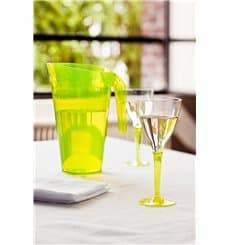 Verre à Vin Plastique Vert 130ml (6 Unités)