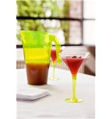 Verre à Cocktail Plastique Vert 100ml (6 Unités)