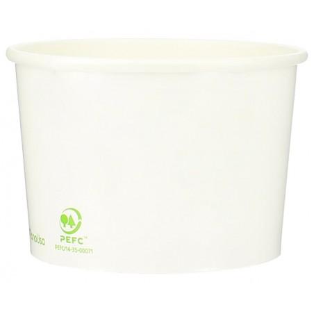 Pot à glace en carton 12oz/360ml Blanc (50 Utés)