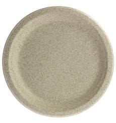 Assiette en Son de Blé Naturel Ø23cm (50 Utés)