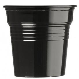 Plastic PS Shotje zwart 80ml Ø5,7cm (50 stuks)