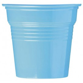 Plastic PS Shotje lichtblauw 80ml Ø5,7cm (50 stuks)